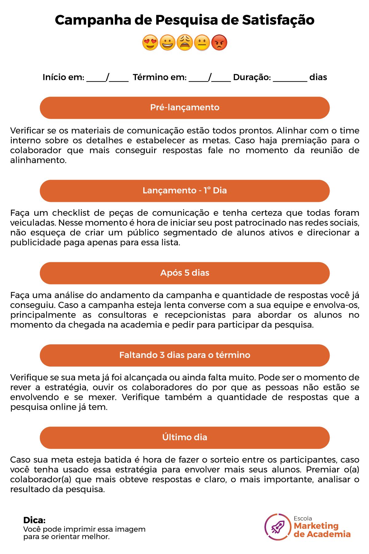 Modelo De Pesquisa De Satisfação Para Academias E Negócios